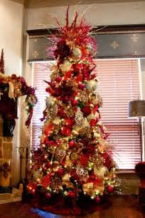 elegant decorated christmas trees red and gold elegant christmas tree christ pinpoint