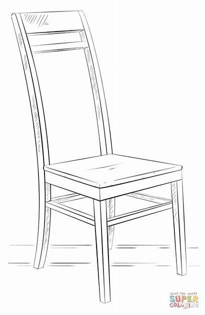 Chair Coloring Sedia Colorare Disegno Disegni Drawing