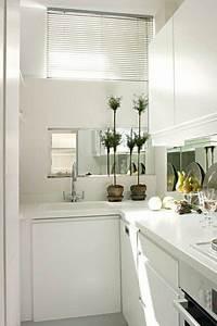 cocinas pequenas y con encanto no te las pierdas With kitchen colors with white cabinets with how to make mirror wall art