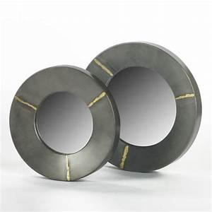 Spiegel Silber Rund : lambert aninanda spiegel eisen rund silber grau gro 30x h3 5cm lambert m bel shop ~ Whattoseeinmadrid.com Haus und Dekorationen