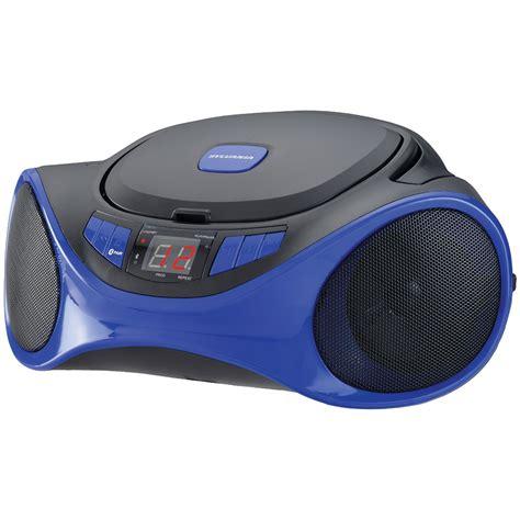 Rd Ijo Bpom sylvania srcd1063bt blue bluetooth r portable cd radio