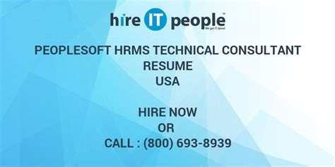 peoplesoft hrms technical consultant resume hire it