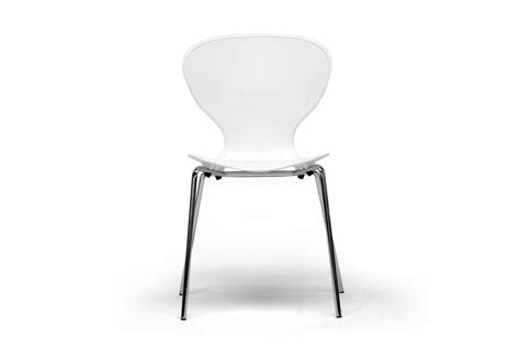baxton studio chair ii baxton studio boujan white plastic modern dining chair