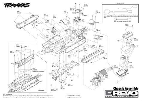 Traxxa T Maxx Steering Diagram by Traxxas E Revo 1 10 Reservedele
