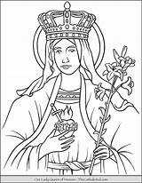 Coloring Heaven Queen Lady Pages Mary Catholic Thecatholickid Printable Mother Saint Blessed Bible Tattoo Jesus Sheets sketch template