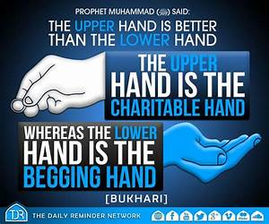 Prophet Muhammad (peace be upon him) said: The upper hand ...
