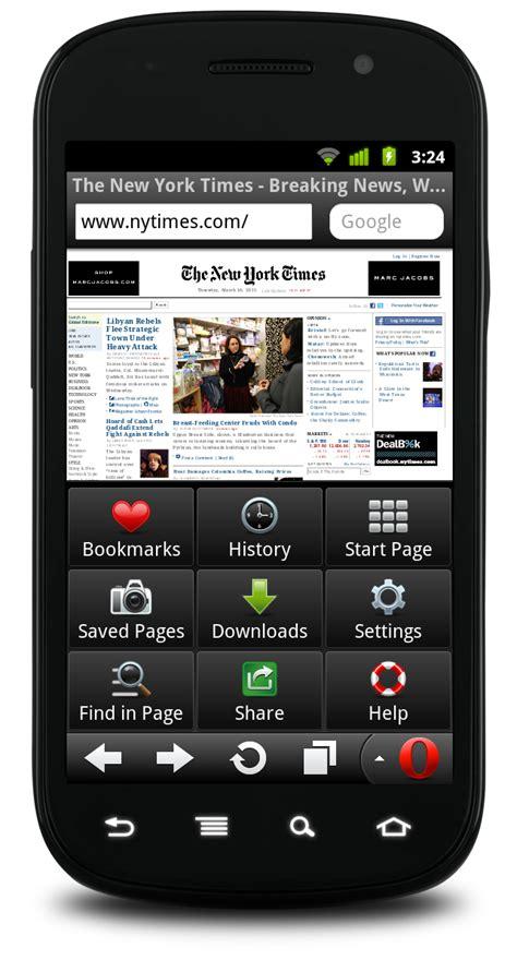 opera mini for android opera mini 6 and opera mobile 11 released slashgear
