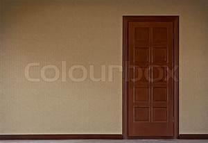 Dunkle Flecken An Der Wand : dunkle schloss die t r gegen die wand mit der tapete stockfoto colourbox ~ Watch28wear.com Haus und Dekorationen