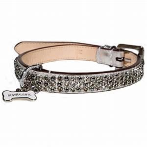 bling collar black With girl dog collars