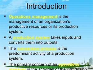 Operations Management Ppt   Bec Doms Bagalkot Mba
