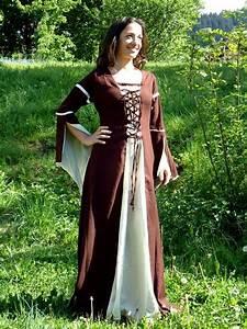 robe medievale a lacets taille m terres celtiques With vêtements médiévaux femme