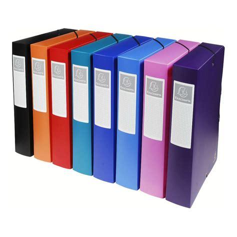 bureau papeterie boîte de classement polypropylène uni papeterie colbert