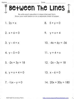 graphing linear equations with color worksheet by lindsay perro tpt
