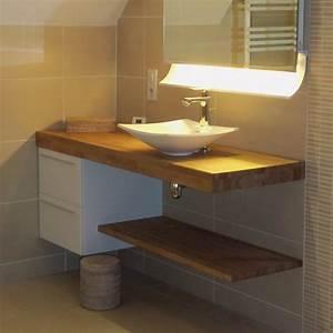Plan De Travail Salle De Bain Lapeyre : meuble salle de bain blanc plan de travail bois livraison ~ Farleysfitness.com Idées de Décoration