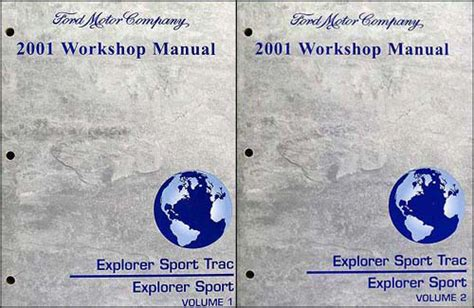 free service manuals online 2001 ford explorer sport trac auto manual 2001 ford explorer and sport trac repair manual set ebay