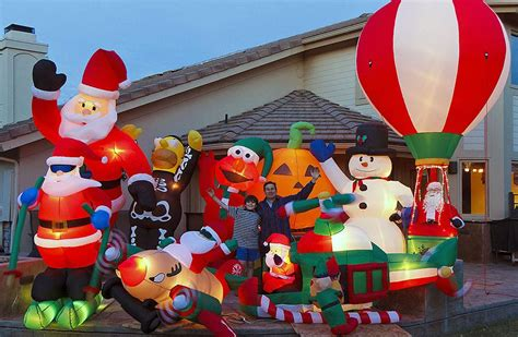 large blow up christmas decorations most decorations tetex