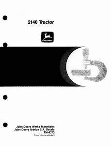 John Deere 2140 Tractor Service Repair Manual