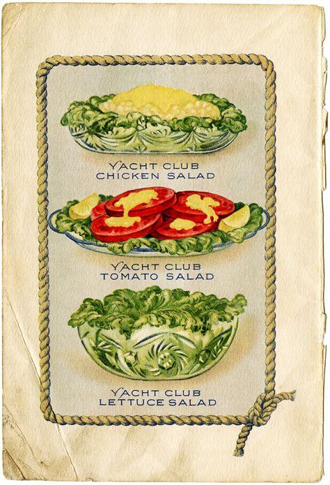cuisines vintage yacht salads free vintage clip design