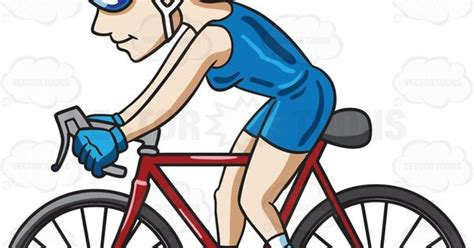 A Woman Riding A Bike To Keep In Shape #cartoon #clipart