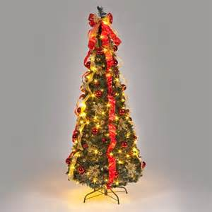 180cm pre lit pop up decorated christmas tree