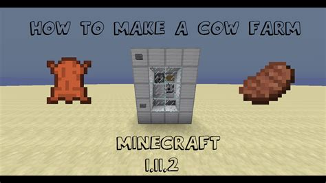 How To Sew Cowhide by How To Make A Cow Farm In Minecraft 1 11 2