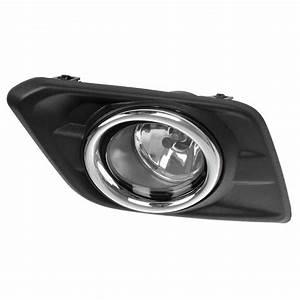 For 2014 2015 2016 Nissan Rogue Fog Light Kit Lamps Bezels
