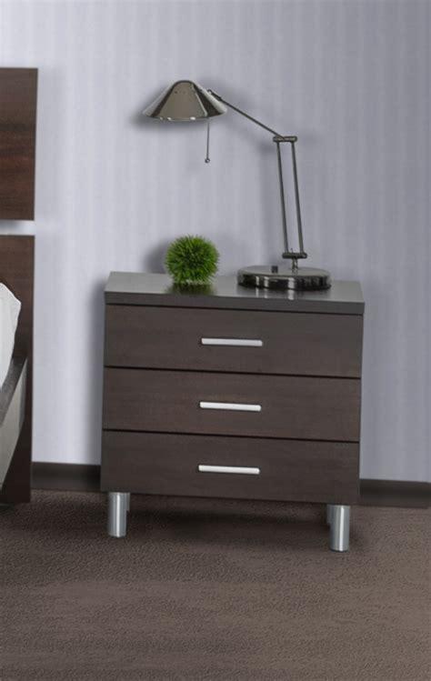 Silver Nightstand Ls by Modrest Bravo Modern Wenge Nightstand Nightstands Bedroom