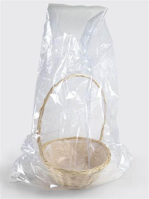 cellophane basket bags shrink wrap bag