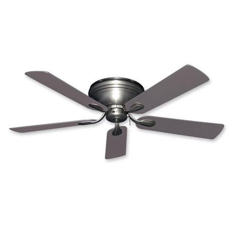 modern flush mount ceiling fan flush mount ceiling fan 52 inch stratus in satin steel
