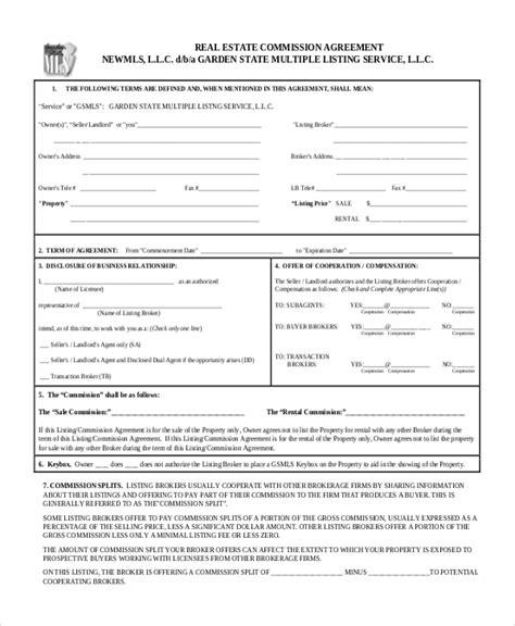 commission split agreement between agents template real estate broker commission agreemen gtld world congress