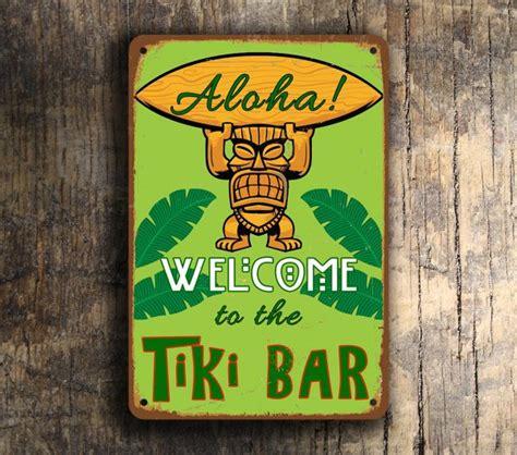 tiki bar sign classic metal signs