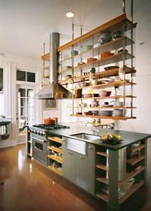 Hanging Kitchen Shelves LaurensThoughts com