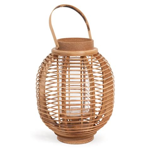 lanterne en bois h 30 cm mengwi maisons du monde