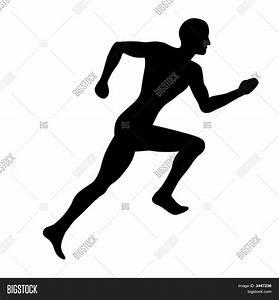 Man Jogging (Silhouette) Image & Photo   Bigstock