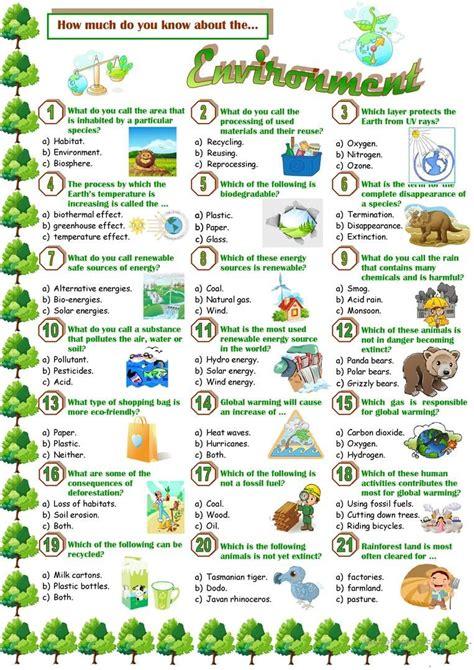 environment quiz  images english teaching