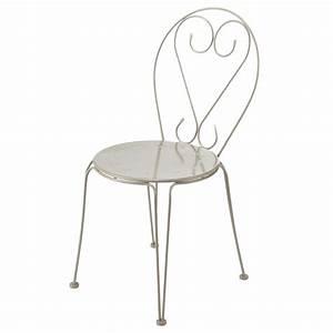 Chaise Tolix Maison Du Monde : chaise de jardin en m tal taupe mary maisons du monde ~ Melissatoandfro.com Idées de Décoration