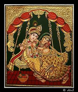 183 best tanjore paintings images on pinterest tanjore With best brand of paint for kitchen cabinets with radha krishna wall art