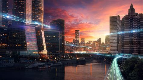 beautiful cityscape exclusive photoshop tutorial constructing futuristic