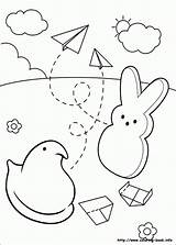 Coloring Peeps Marshmallow Pages sketch template