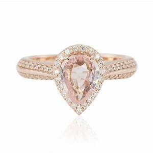 beautiful pink sapphire rose gold engagement rings With wedding rings pink gold