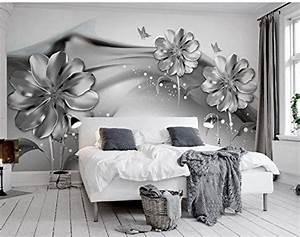 Fototapete Für Wohnzimmer : malilove fototapete f r w nde 3d wandbilder tapeten f r wohnzimmer schwarze und wei e blume 3d ~ Sanjose-hotels-ca.com Haus und Dekorationen