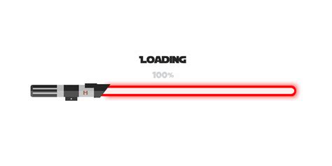 lightsaber progress bar web design ui inspiration