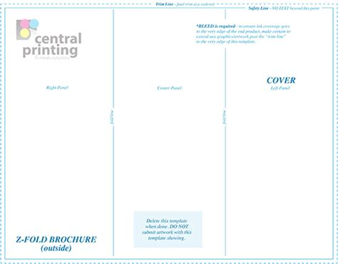 Z Fold Brochure Template Brochure Templates Central Printing