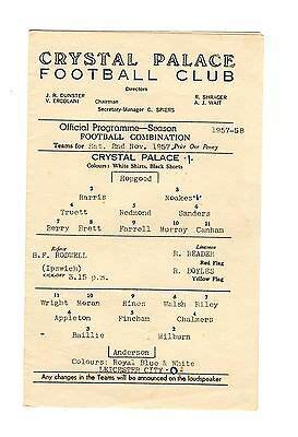 Crystal Palace v Leicester City Reserves Programme 2.11 ...