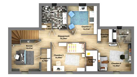 plan de maison contemporaine ligne contemporaine