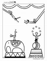 Coloring Pages Trapeze Sleep sketch template