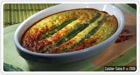 recette bio flan d asperges vertes cuisine saine recettes sans gluten bio et paléo