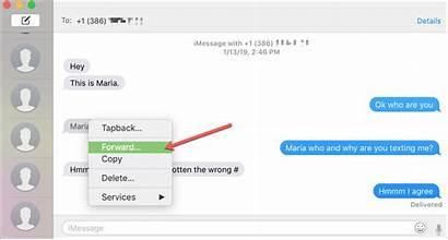 Forward Text Message Mac Iphone Menu Ipad