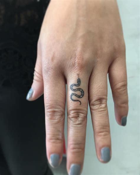 small snake finger tat tattoos tattoos finger