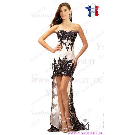 robe de soiree asymetrique courte devant  longue